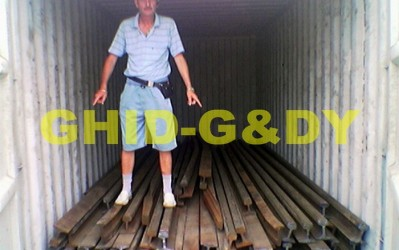 Rails in container 5,8m